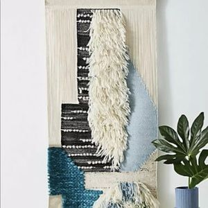 Anthropologie Shaggy Wool Cotton Woven Wall Art